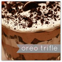 Oreo Trifle!! Super duper easy to make and the perfect dessert for any occasion!