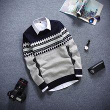 Áo len dệt kim nam thời trang, màu sắc cổ điển, phong cách Hàn Quốc
