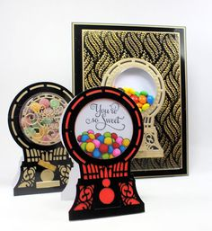 Happy Tuesday, I realised I haven& stared any of my versions of the Candy Machine. I hope you managed to catch Sue Wilson& shows . Sue Wilson Dies, Candy Cards, Happy Tuesday, Kids Cards, I Card, Stampin Up, Projects To Try, Birthdays, Greeting Cards