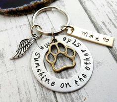 Dog Memorial ~ Custom Dog Tag ~ Dog Remembrance ~ Dog Loss ~ Hand Stamped Key Chain ~ Personalized Dog ~ PoliteTwistedJewel ~N82