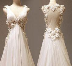 Aline Vneck Neckline Court Train Wedding Dress