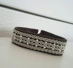 Lapland Sami Bracelet Reindeer leather Custom made by liten82