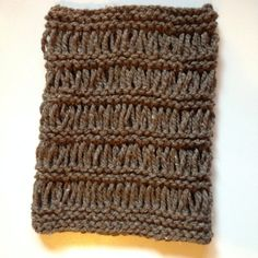 Handmade knit cowl. For sale on etsy. Pattern available in the same shop! Super chunky yarn and very warm.