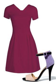 Kolor fioletowy Dresses For Work, Fashion, Moda, Fashion Styles, Fashion Illustrations