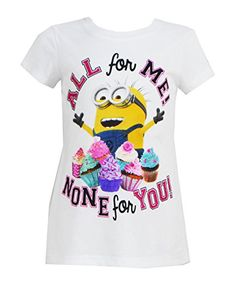 Despicable Me Youth Girls Fitted Minion Cupcakes Tee X-Small White Despicable Me http://www.amazon.com/dp/B00YG59N9E/ref=cm_sw_r_pi_dp_.4eZwb1BZ89N2