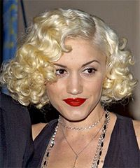 IDK. Too flapperesque? I'm kind of sort of for yet against it. Hmm - Gwen Stefani Hairstyle - Formal Medium Curly