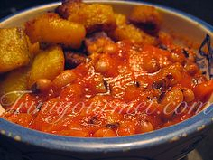 Red-red stew from Ghana, made with canned tomatoes and black-eyed peas; typically served with fried plantains. So hearty and delicious!