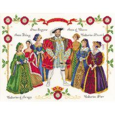 DMC Cross Stitch Kit Henry VIII And Six Queens Consort