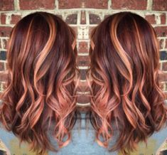 46 Beautiful Rose Gold Hair Color Ideas The most beautiful hair ideas, the most trend hairstyles on Perfect Hair, Cabelo Rose Gold, Gold Hair Colors, Hair Colours, Hair Color And Cut, Hair Color For Fair Skin, Hair Highlights, Copper Highlights, Ombre Hair
