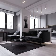 Modern Style Apartment 3 modern style apartments under 50 square meters (includes floor