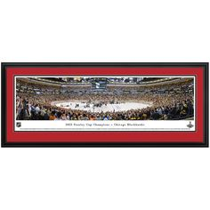 "Chicago Blackhawks 44"" x 18"" 2013 Stanley Cup Champions Deluxe Frame Panoramic Photo"