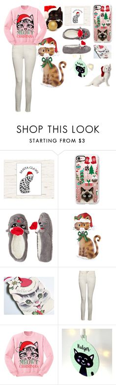 """""""Meowy Catsmas!"""" by sweetie-pie77 on Polyvore featuring Casetify, Capelli New York, IDA, Christmas, cute, cats and catstyle"""