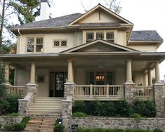 Craftsman Porch Railing Designs Design, Pictures, Remodel, Decor and Ideas