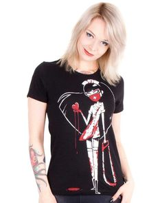 Akumu Ink | Sick Nurse Tshirt - Tragic Beautiful buy online from Australia