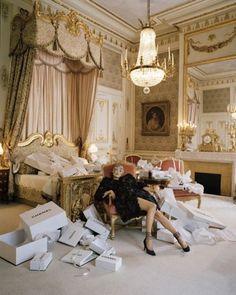 tim walker photography for Vogue US  stylist grace coddington  model kate moss  hotel Ritz in Paris