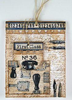 Darkroom Door Vintage Office, Tag Card,