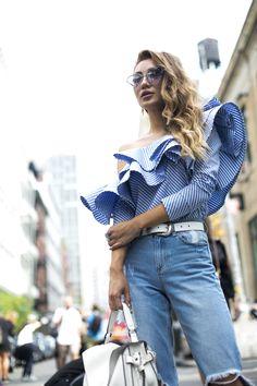 Street style, NYFW, verão 2017: dia 3 - Vogue | Streetstyle