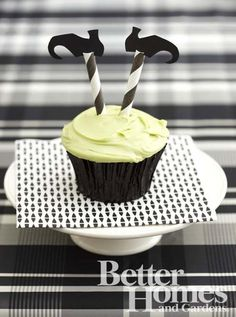wicked witch cupcake - Halloween ideas