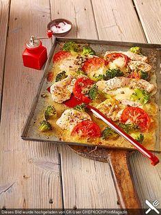 Putenschnitzel mit Brokkoli vom Blech (Rezept mit Bild) | Chefkoch.de