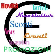 Basta un minuto per iscriversi alla nostra newsletter e potrete usufruire di tanti vantaggi... Non perdete tempo! http://shop.cristinaeffe.com/newsletter