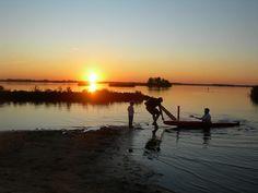 Sunset bij de Leyen. Friesland Holland
