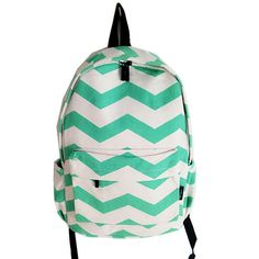Wow! Leisure Mint Green Stripe Weave Canvas Large Laptop School Backpack only $25.99 from Atwish.com! I like it so much!!