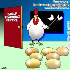 Foundation courses in coaching industry at PB ! Chicken Jokes, Chicken Art, Learning Centers, Early Learning, Funny Cartoons, Funny Memes, Psychology Humor, Chickens And Roosters, Comic Strips