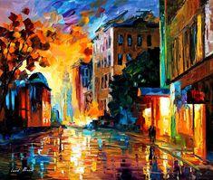 YELLOW TOWN - PALETTE KNIFE Oil Painting On Canvas By Leonid Afremov http://afremov.com/YELLOW-TOWN-PALETTE-KNIFE-Oil-Painting-On-Canvas-By-Leonid-Afremov-Size-30-x24.html?bid=1&partner=20921&utm_medium=/vpin&utm_campaign=v-ADD-YOUR&utm_source=s-vpin