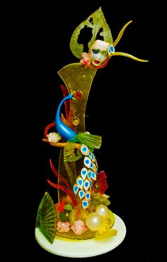 Sugar Showpiece created by Pastry Chef Instructor Jean Vendeville - The Chicago School of Mold Making #sugar #mardigras