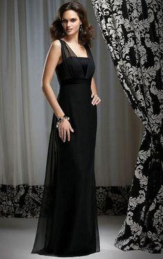 Chiffon Sheath Zipper Floor-length Sleeveless Bridesmaid Dresses