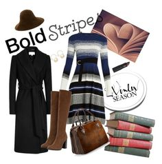 """""""Bold Stripes"""" by cordelia-fortuna on Polyvore featuring Sportmax, Zara, Patricia Underwood, Witchery, Aspinal of London and Lipstick Queen"""