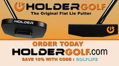 Not your Traditional Putter! Check out the Holder Putter from Holder Golf Golf Putters, Golf Tips, Golf Clubs, Traditional, Check