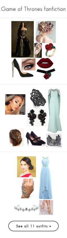 """Game of Thrones fanfiction"" by avalonmalfoy ❤ liked on Polyvore featuring Cerasella Milano, Atelier Swarovski, Lime Crime, Embers Gemstone Jewellery, Safiyaa, PAS DE ROUGE, Noir, Ann Taylor, LULUS and Missguided"