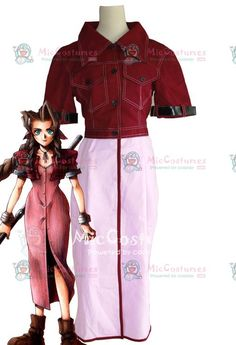 Final Fantasy VII Aerith Cosplay Costume for Sale