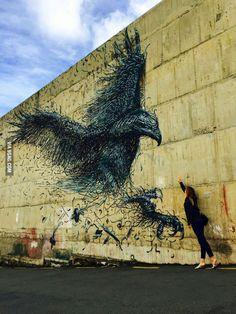 Look what I found! ~ Street art, Dunedin, New Zealand