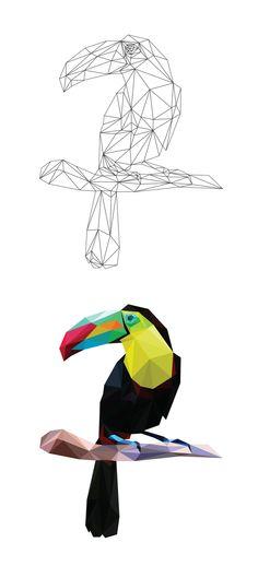 Low Poly Studies by Breno Bitencourt, via Behance