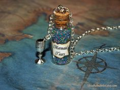 Mermaid Tears Magical Bottle with a Silver by LifeistheBubbles, $16.00