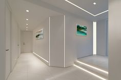 """Pure Lighting - TruLine 1.6a, 24VDC Plaster-In LED System  TruLine 1.6A creates a clean line of glare-free general illumination within 5/8"""" drywall. The 24VDC linear LED system features a shallow, 5/8"""" deep plaster-in aluminum extrusion no thicker than drywall that houses two rows of high CRI, commercial grade white or RGB LED Soft Strip. Its 1.6"""" wide diffuser lens projects a clean line of light without LED dots."""