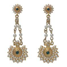 Pearl Rosette Drop Earrings - Earrings - Jewelry - The Met Store