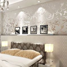 Wellness wallpaper hochkant  https://www.google.pl/search?q=silver and gold home interiors ...