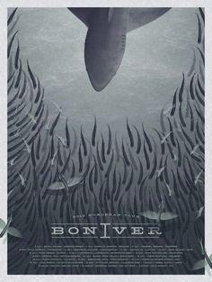 La bellezza dei poster del rock - Bon Iver, tour europeo 2012