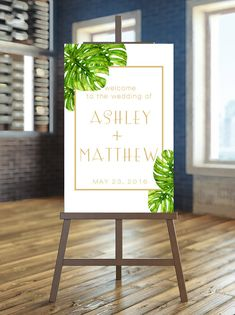 Printable Wedding Sign Welcome Wedding Sign by instanttrends