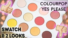 ColourPop Yes Please (Cute AF) Palette Review Swatches and Tutorial #colourpop #colourpopeyeshadow #colourpoppalette #yesplease #yespleasepalette #warmtoneeye #warmeyelook #warmtoneeyeshadow #CuteAF #cuteAFpalette #colourpopme