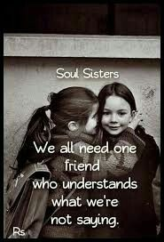 This is SOOO true…I have my days and I'm so glad that I have someone who knows what's wrong with me sometimes before I even know and there just THERE❤️!!! #bestfriends #soulsisters