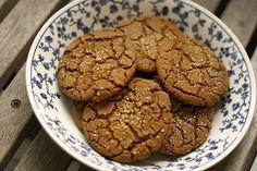 Vegan Ginger cookies - bread & honey : a food blog.: sparkled ginger cookies.