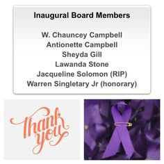 #SAF4PC #TBT: Today we recognize our Inaugural Board Members who stepped up to the challenge and made us successful!