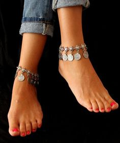 ::::ﷺ♔❥♡ ♤ ✿⊱╮☼ ☾ PINTEREST.COM christiancross ☀ قطـﮧ‌‍ ⁂ ⦿ ⥾ ⦿ ⁂  ❤U◐ •♥•*⦿[†] ::::Gypsy Antique Anklet Bracelet