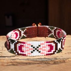 Infinity Bead Loom Bracelet Bohemian Boho Artisanal Jewelry Indian Western Beaded Tribal Southwestern Turquoise Brown Santa Fe by PuebloAndCo on Etsy https://www.etsy.com/listing/232992483/infinity-bead-loom-bracelet-bohemian
