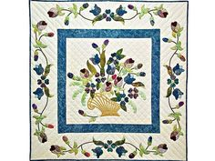 Spring Basket Medley Quilt -- wonderful specially made Amish Quilts from Lancaster (wh4514)