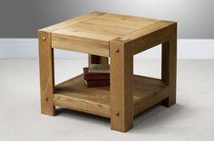 Quercus Solid Oak Furniture Range Occasional Table | Oak Side Table Oak Furniture Land www.oakfurnitureland.co.uk